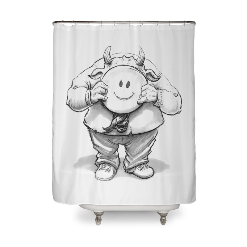 That smiley demon! Home Shower Curtain by Franky Nieves Shop