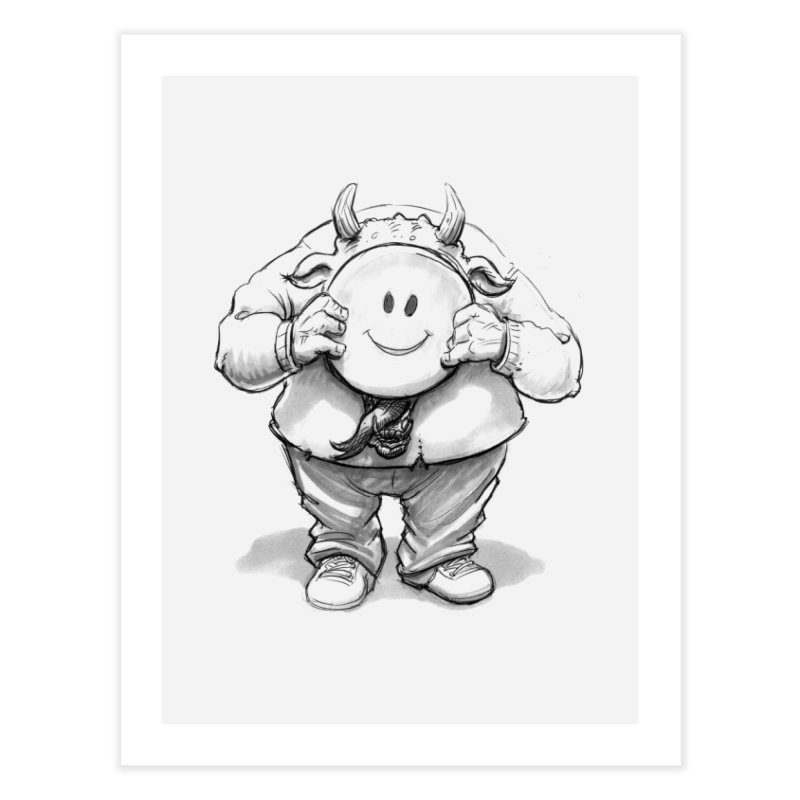That smiley demon! Home Fine Art Print by Franky Nieves Shop