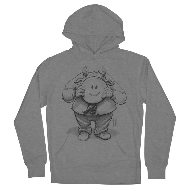 That smiley demon! Men's French Terry Pullover Hoody by Franky Nieves Shop