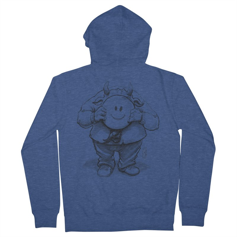 That smiley demon! Women's French Terry Zip-Up Hoody by Franky Nieves Shop
