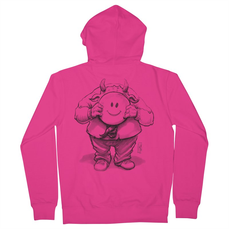 That smiley demon! Men's French Terry Zip-Up Hoody by Franky Nieves Shop