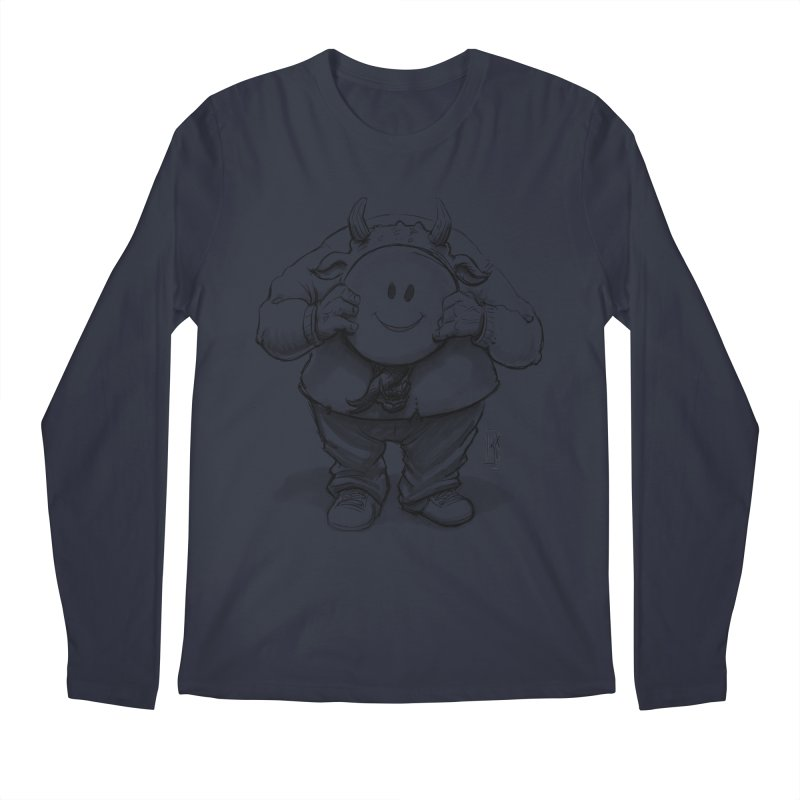 That smiley demon! Men's Longsleeve T-Shirt by Franky Nieves Shop