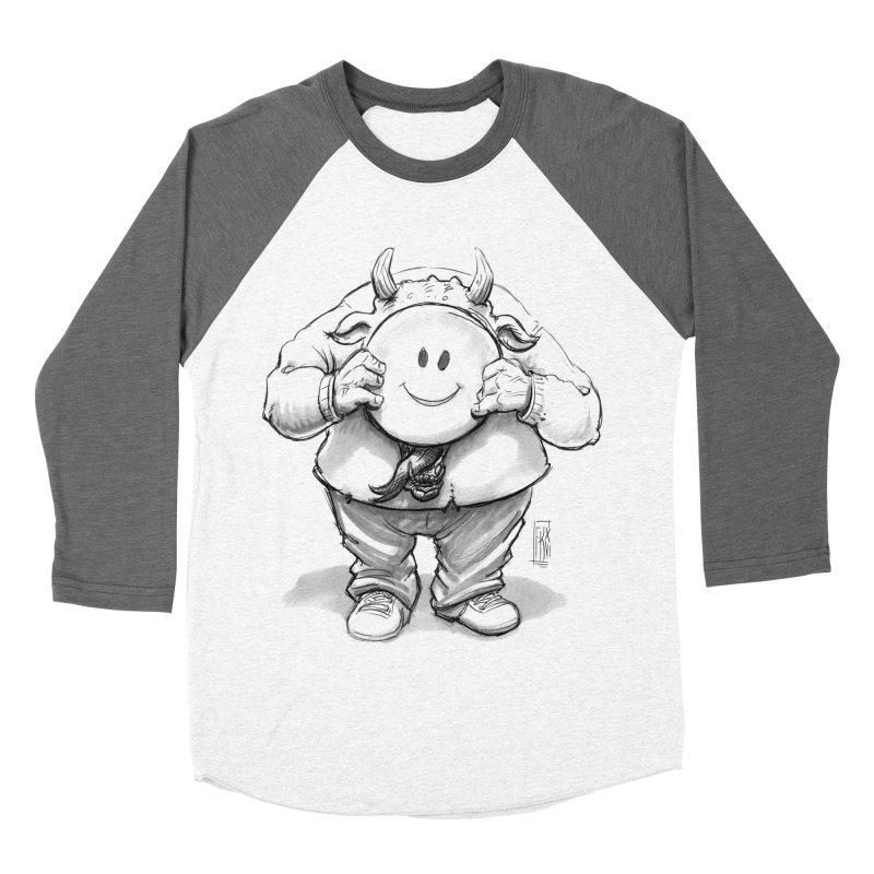 That smiley demon! Men's Baseball Triblend Longsleeve T-Shirt by Franky Nieves Shop
