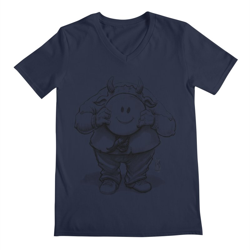 That smiley demon! Men's Regular V-Neck by Franky Nieves Shop
