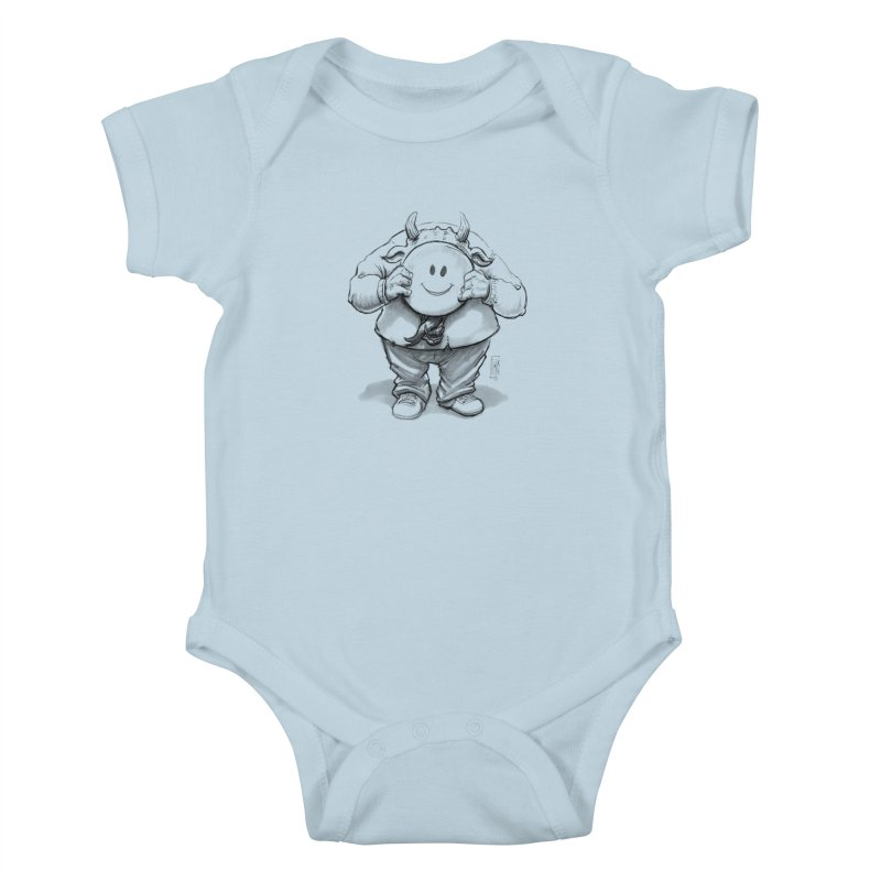 That smiley demon! Kids Baby Bodysuit by Franky Nieves Shop