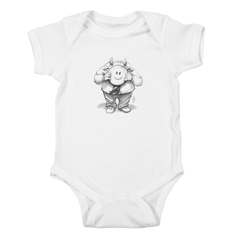 That smiley demon! Kids Baby Bodysuit by Franky Nieves Shop