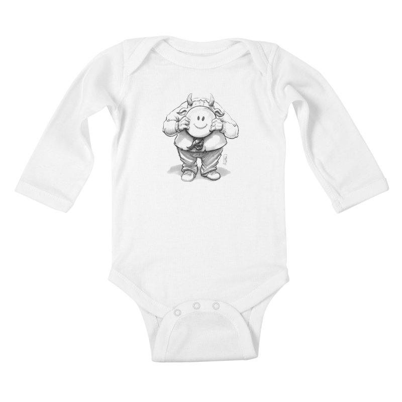 That smiley demon! Kids Baby Longsleeve Bodysuit by Franky Nieves Shop