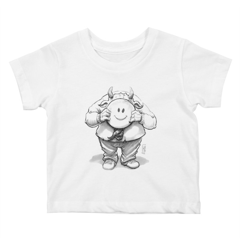 That smiley demon! Kids Baby T-Shirt by Franky Nieves Shop