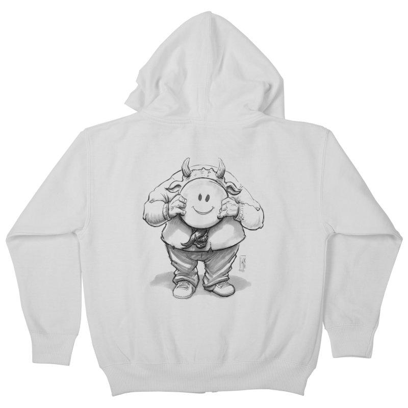 That smiley demon! Kids Zip-Up Hoody by Franky Nieves Shop