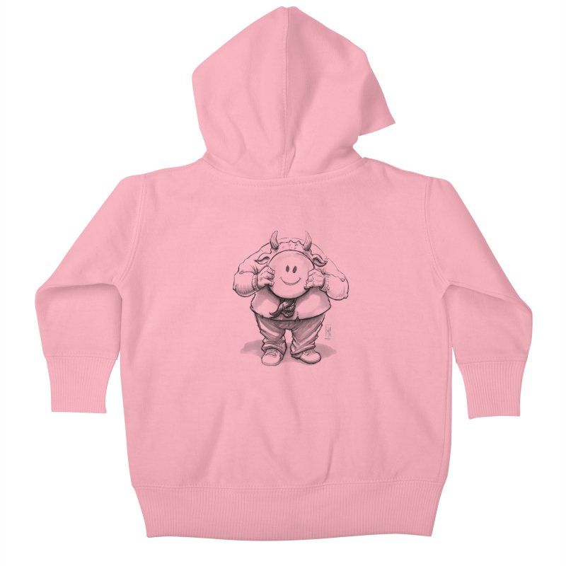 That smiley demon! Kids Baby Zip-Up Hoody by Franky Nieves Shop
