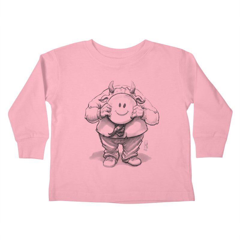 That smiley demon! Kids Toddler Longsleeve T-Shirt by Franky Nieves Shop
