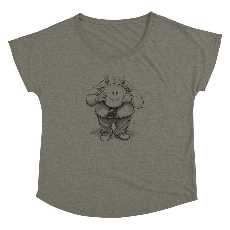 That smiley demon! Women's Dolman Scoop Neck by Franky Nieves Shop