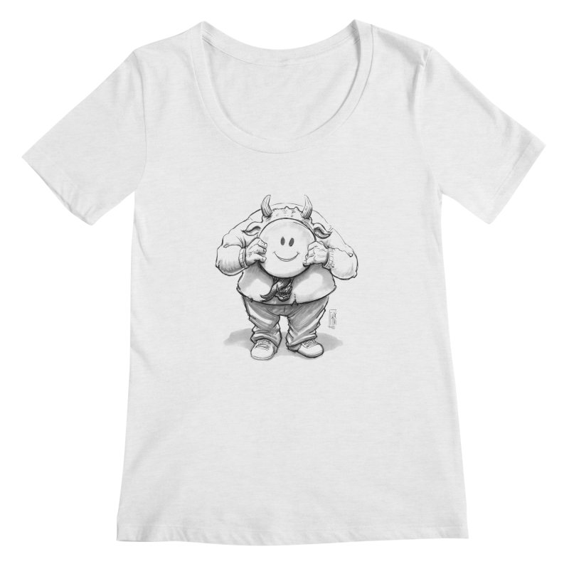 That smiley demon! Women's Scoop Neck by Franky Nieves Shop