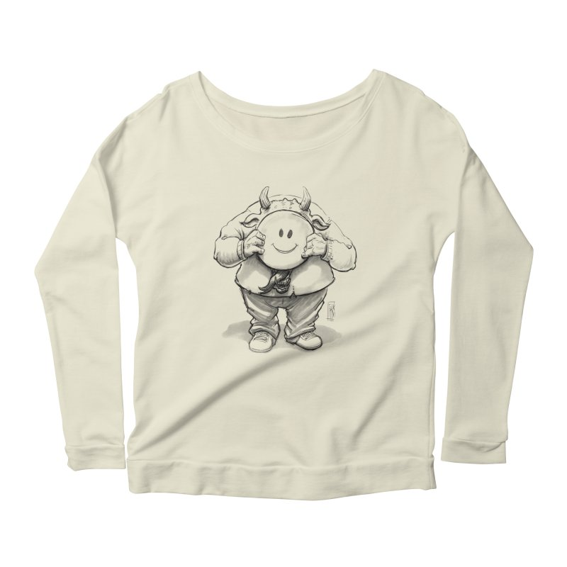 That smiley demon! Women's Scoop Neck Longsleeve T-Shirt by Franky Nieves Shop