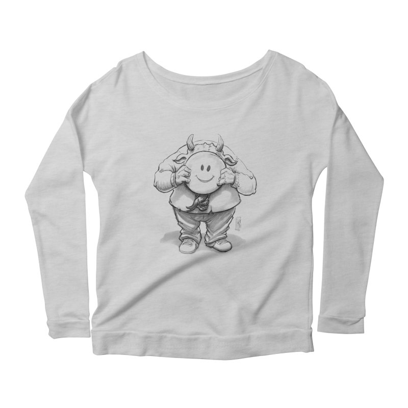 That smiley demon! Women's Scoop Neck Longsleeve T-Shirt by Franky Nieves Shop