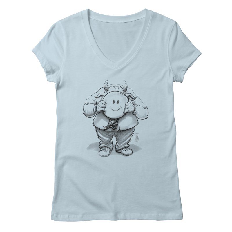 That smiley demon! Women's V-Neck by Franky Nieves Shop