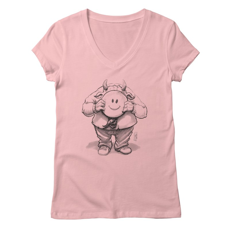 That smiley demon! Women's Regular V-Neck by Franky Nieves Shop