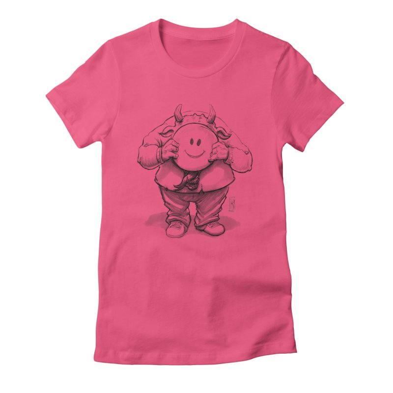 That smiley demon! Women's Fitted T-Shirt by Franky Nieves Shop