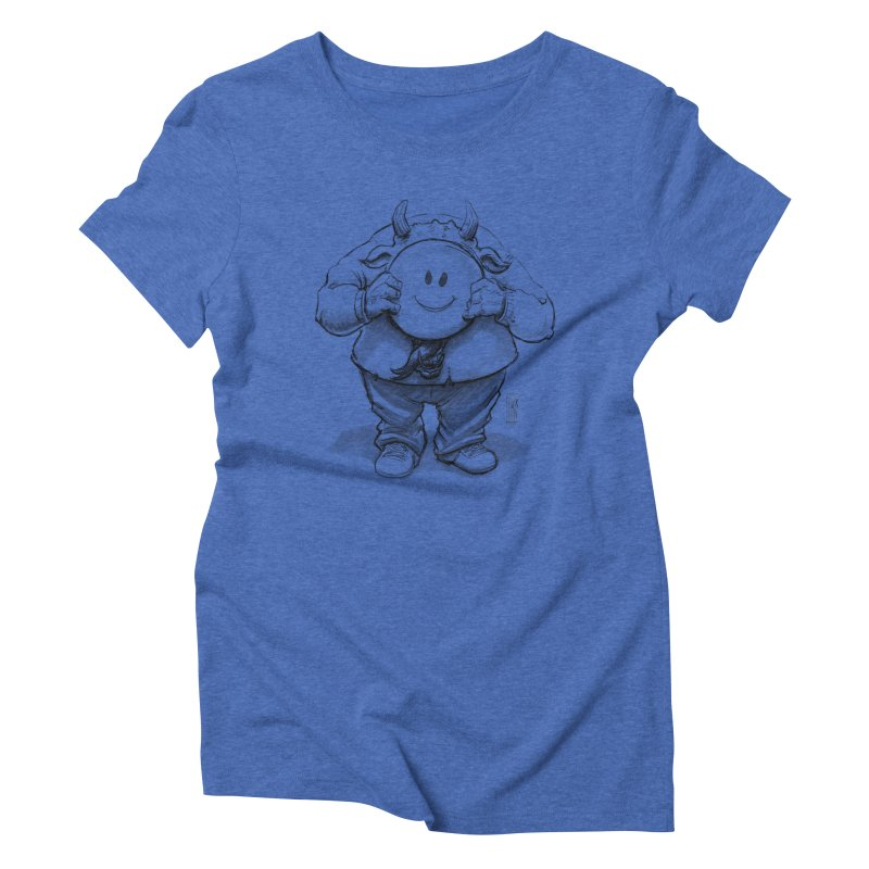 That smiley demon! Women's Triblend T-Shirt by Franky Nieves Shop