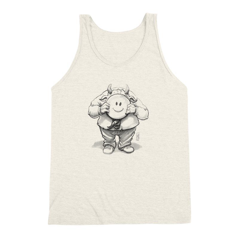 That smiley demon! Men's Triblend Tank by Franky Nieves Shop
