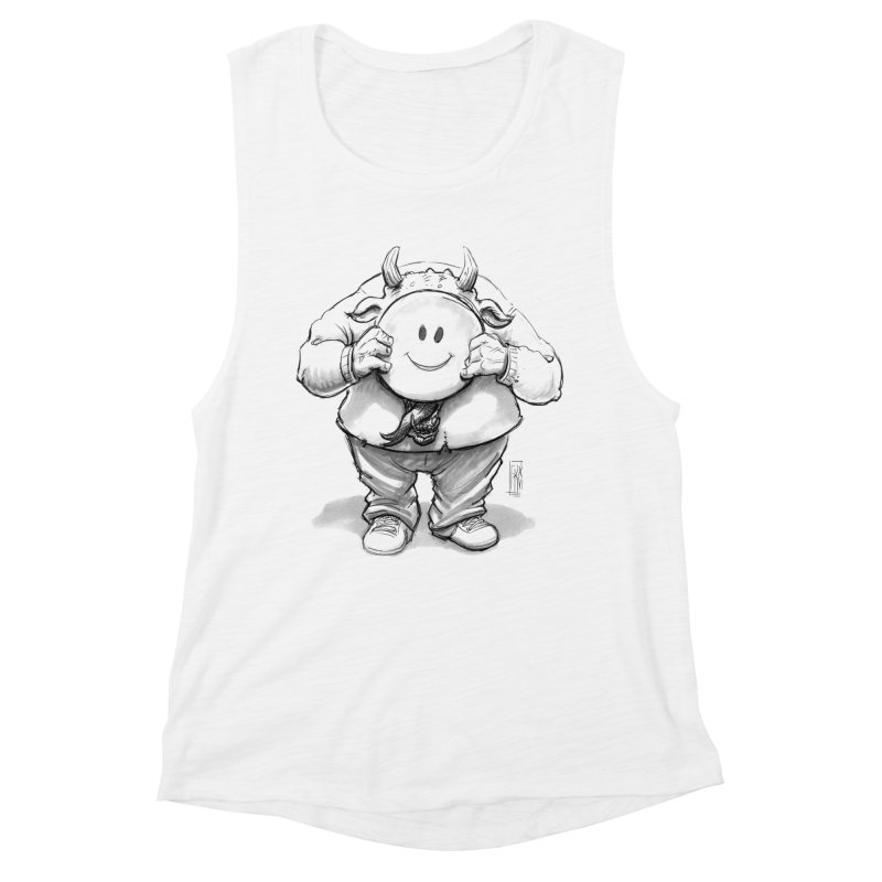 That smiley demon! Women's Muscle Tank by Franky Nieves Shop