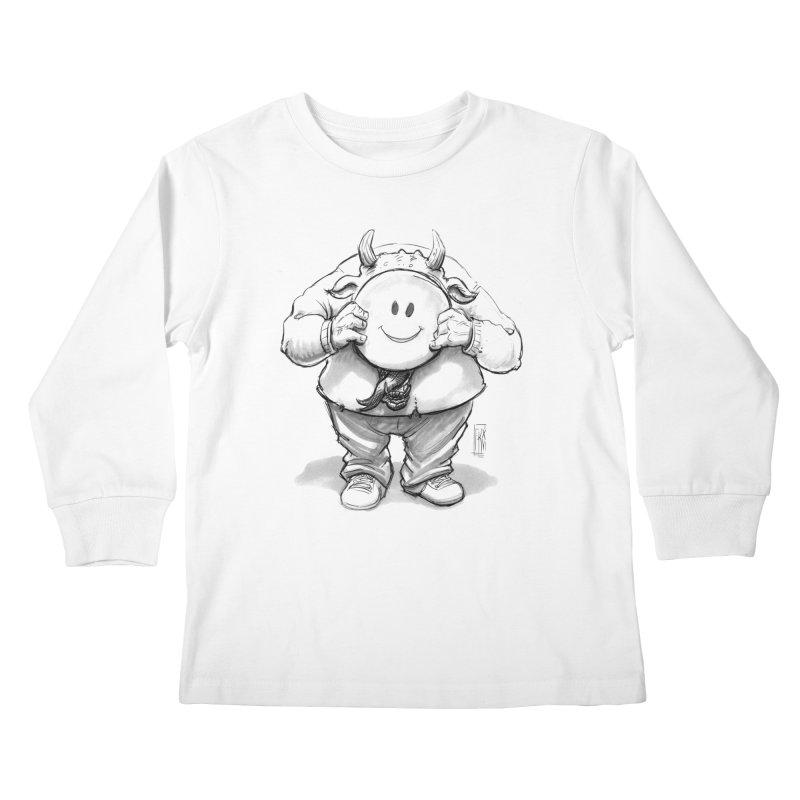 That smiley demon! Kids Longsleeve T-Shirt by Franky Nieves Shop