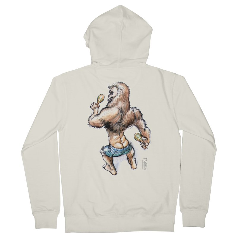 Cuban Yeti Men's French Terry Zip-Up Hoody by Franky Nieves Shop