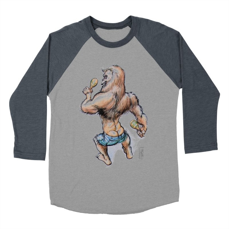 Cuban Yeti Men's Baseball Triblend Longsleeve T-Shirt by Franky Nieves Shop
