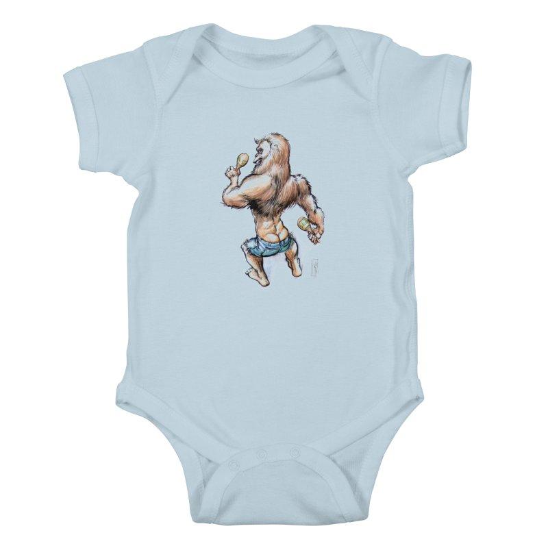 Cuban Yeti Kids Baby Bodysuit by Franky Nieves Shop