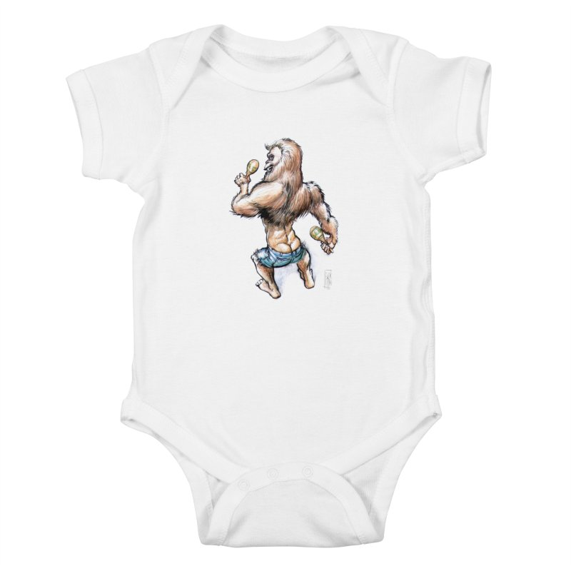 Cuban Yeti Kids Baby Bodysuit by Franky Nieves Shop