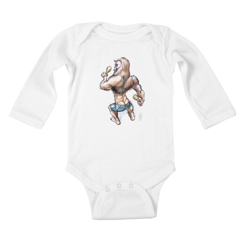Cuban Yeti Kids Baby Longsleeve Bodysuit by Franky Nieves Shop