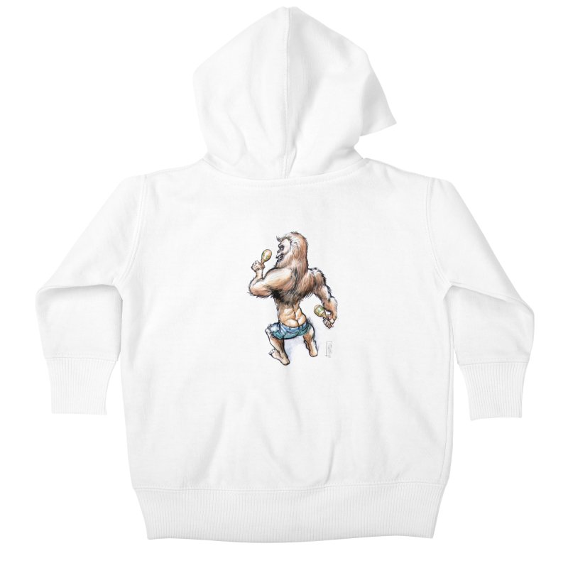 Cuban Yeti Kids Baby Zip-Up Hoody by Franky Nieves Shop