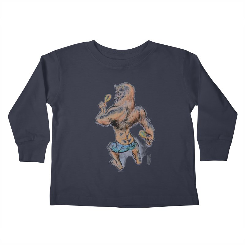Cuban Yeti Kids Toddler Longsleeve T-Shirt by Franky Nieves Shop