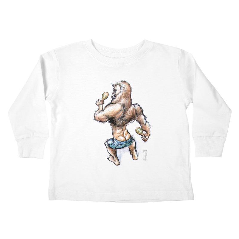 Cuban Yeti Kids Toddler Longsleeve T-Shirt by Franky Nieves Shop