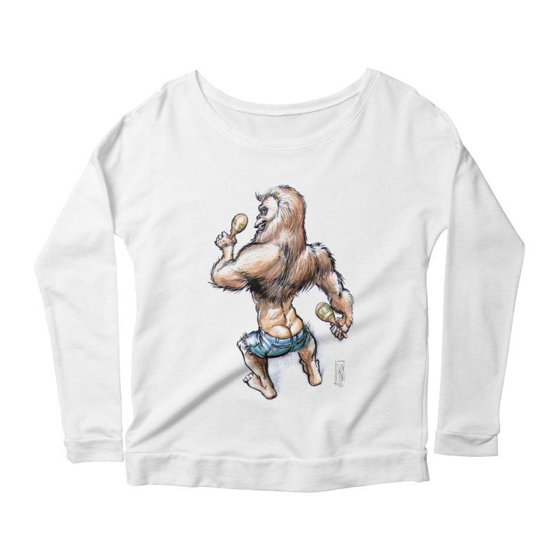 Cuban Yeti Women's Scoop Neck Longsleeve T-Shirt by Franky Nieves Shop