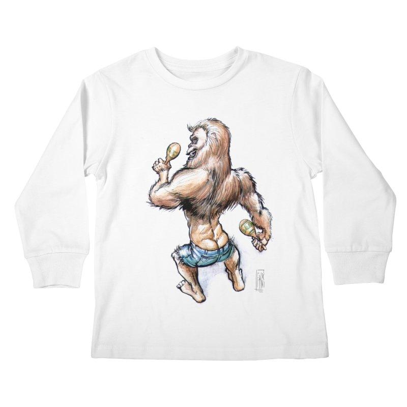 Cuban Yeti Kids Longsleeve T-Shirt by Franky Nieves Shop