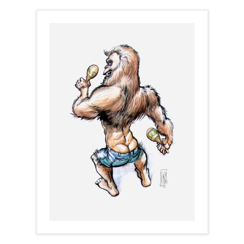 Cuban Yeti Home Fine Art Print by Franky Nieves Shop