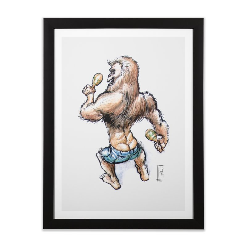Cuban Yeti Home Framed Fine Art Print by Franky Nieves Shop