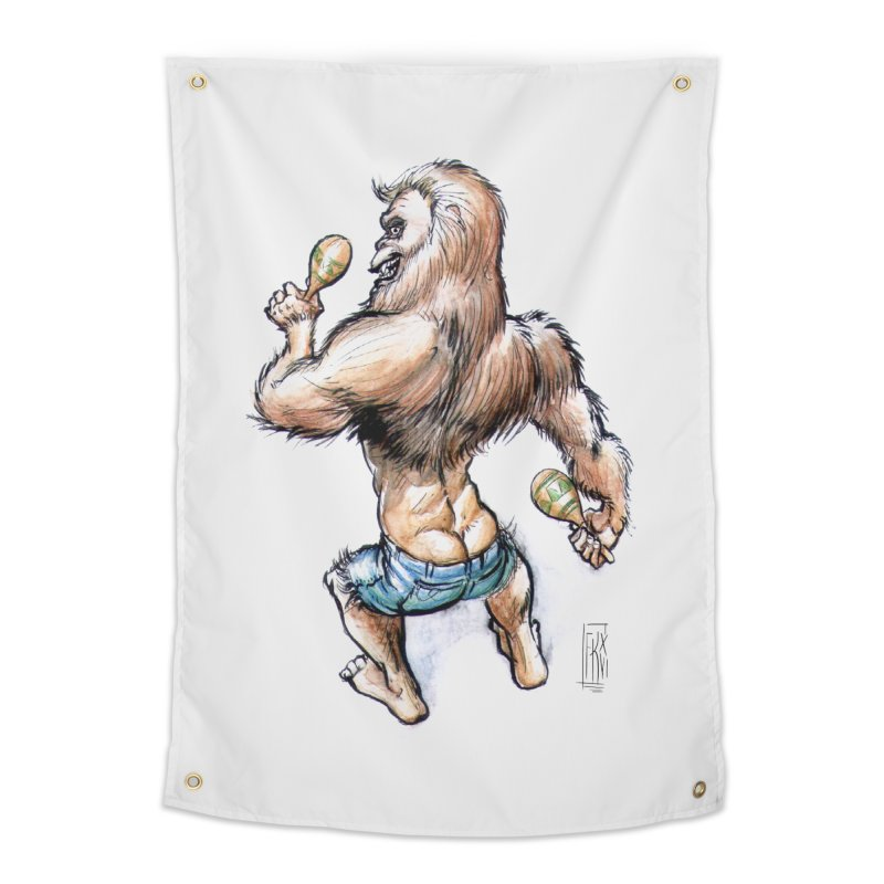 Cuban Yeti Home Tapestry by Franky Nieves Shop