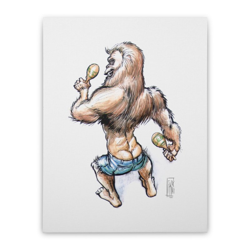 Cuban Yeti Home Stretched Canvas by Franky Nieves Shop