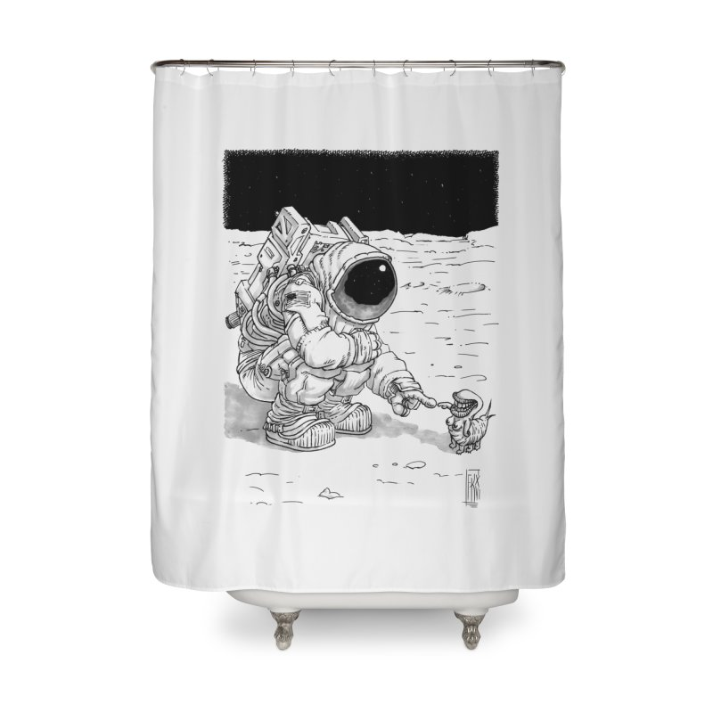 Thingy Home Shower Curtain by Franky Nieves Shop