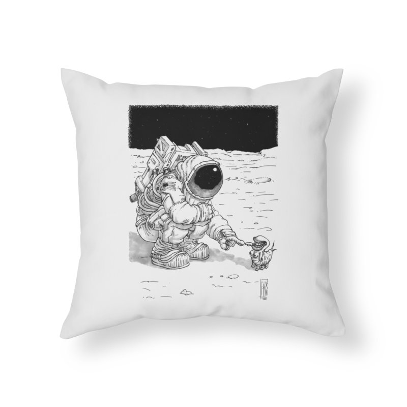 Thingy Home Throw Pillow by Franky Nieves Shop