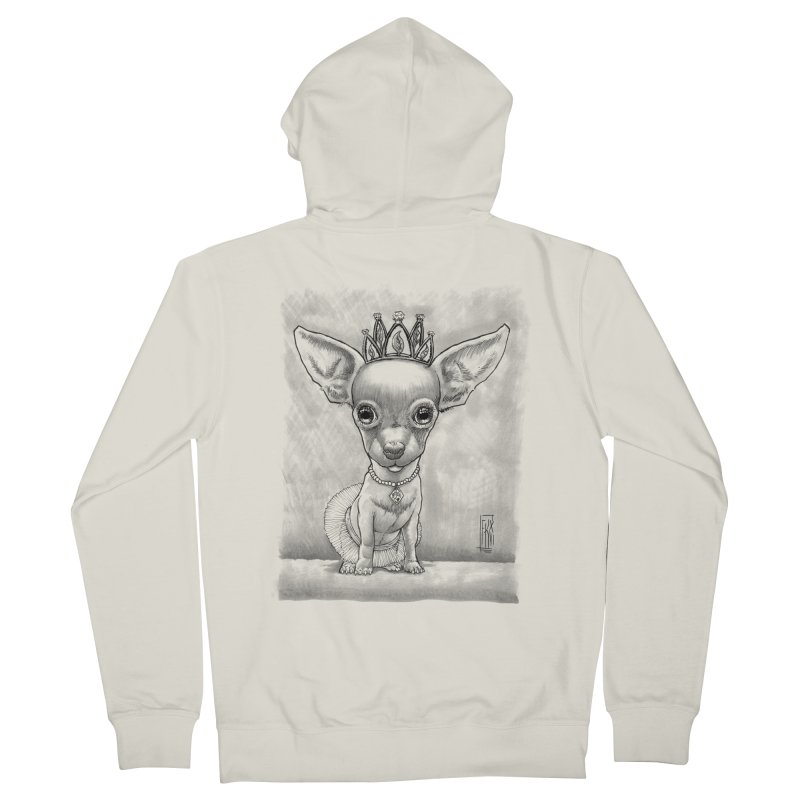 Ay Chihuahua princesa! Men's French Terry Zip-Up Hoody by Franky Nieves Shop