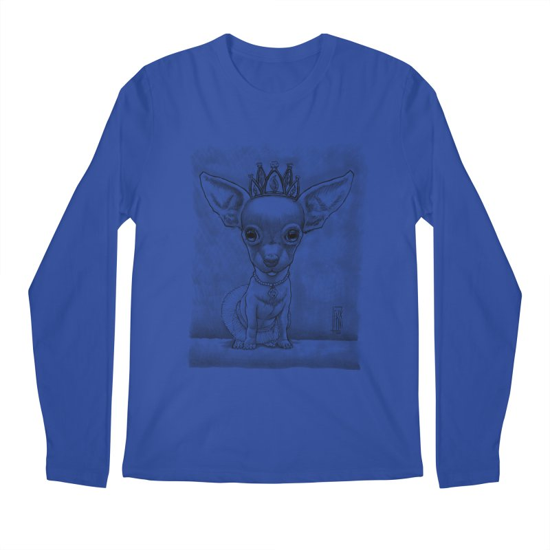 Ay Chihuahua princesa! Men's Regular Longsleeve T-Shirt by Franky Nieves Shop