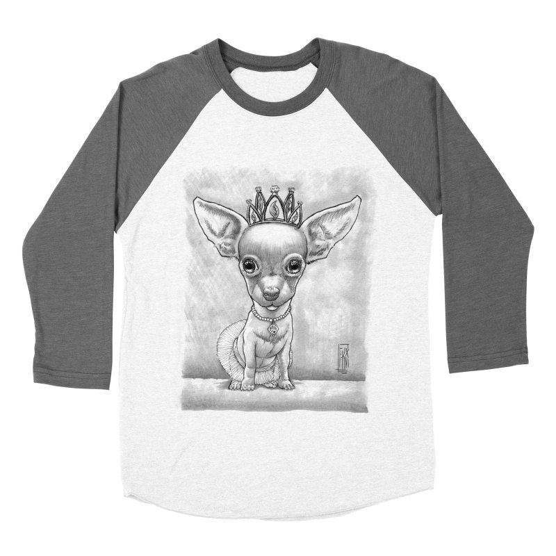 Ay Chihuahua princesa! Women's Baseball Triblend Longsleeve T-Shirt by Franky Nieves Shop
