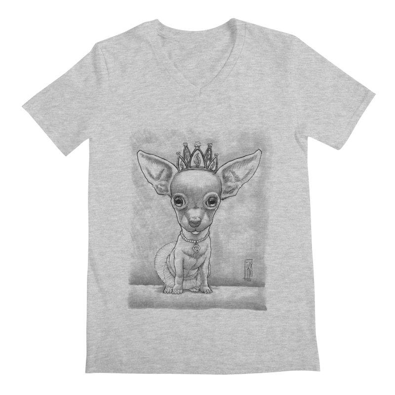 Ay Chihuahua princesa! Men's Regular V-Neck by Franky Nieves Shop