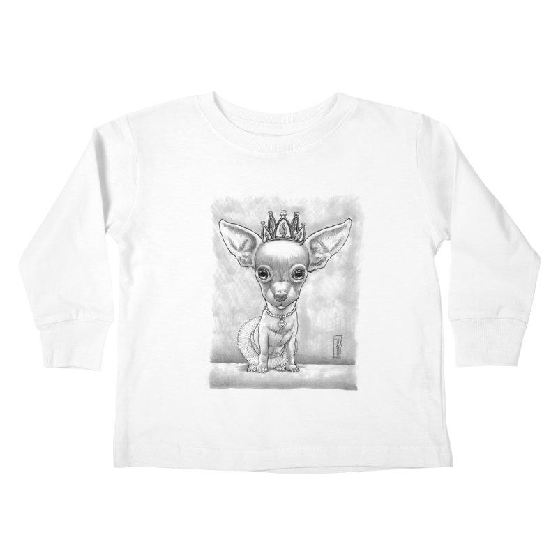 Ay Chihuahua princesa! Kids Toddler Longsleeve T-Shirt by Franky Nieves Shop