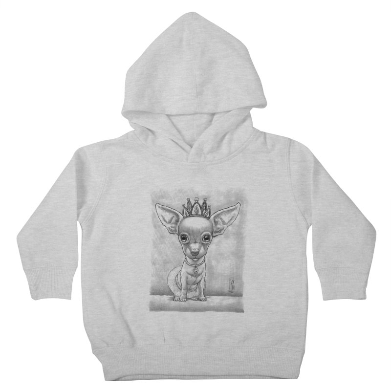 Ay Chihuahua princesa! Kids Toddler Pullover Hoody by Franky Nieves Shop