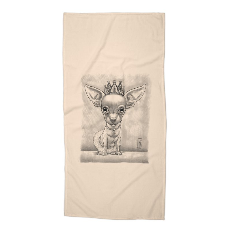 Ay Chihuahua princesa! Accessories Beach Towel by Franky Nieves Shop