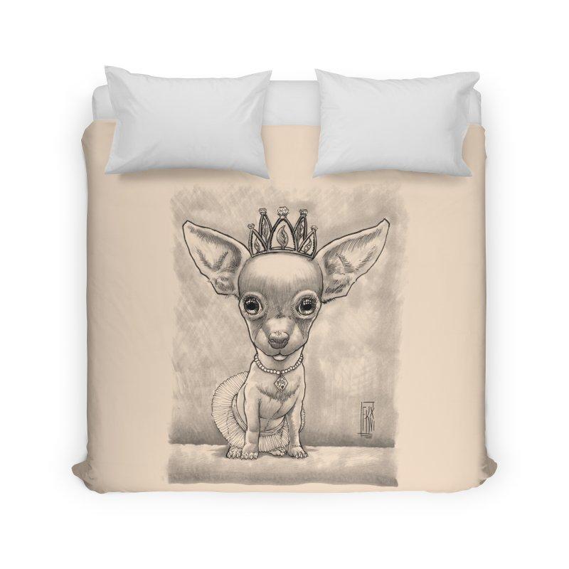 Ay Chihuahua princesa! Home Duvet by Franky Nieves Shop